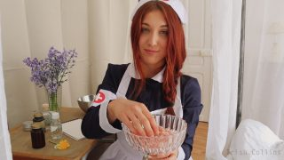 Sexy French Nurse Cosplayer Gives Hot Joi
