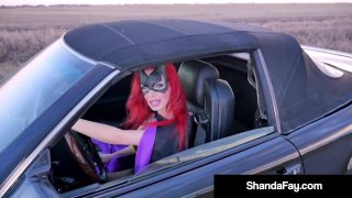 Batgirl Cosplayer Sucks Cock By The Roadside