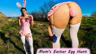 Milf Cosplaying A Bunny Goes On An Easter Egg Hunt